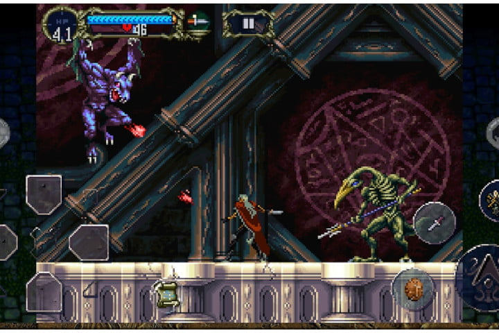 Screenshot of Castlevania: Symphony of the Night game on Android