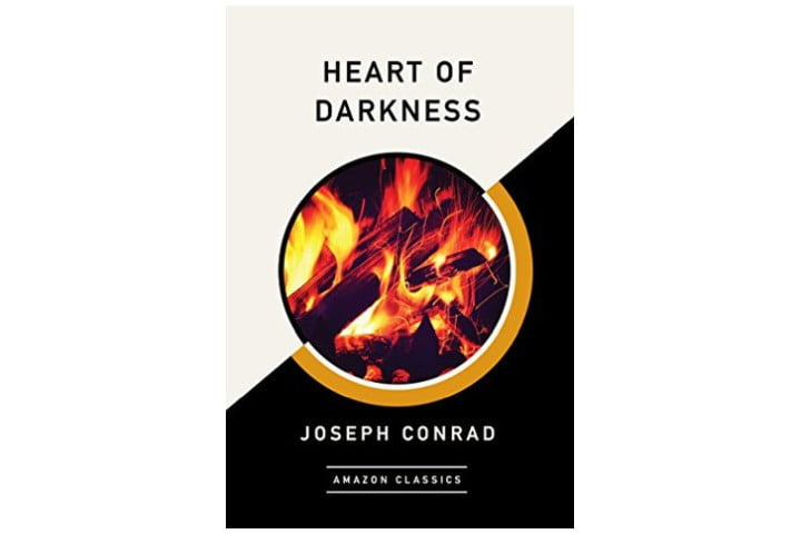 Photo shows the cover of the book which is half white, half black and features the title in black letters at the top. In the middle is a circular picture of a fire with the author's name at the bottom in white letters