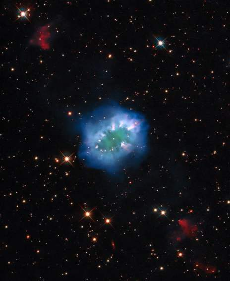 A 10,000-year-old conflict between two stars formed the Necklace Nebula