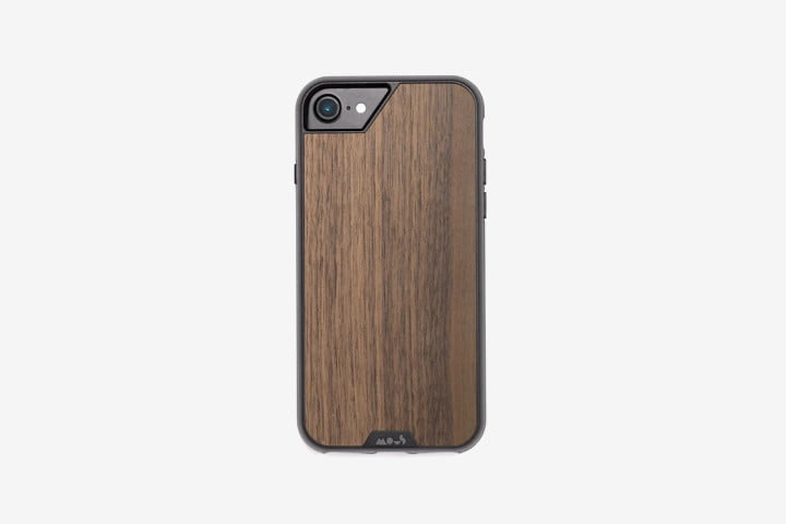 Mous Limitless Walnut Case on iPhone 8