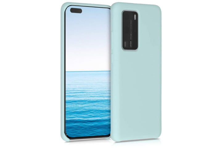 kwmobile TPU Silicone Case for Huawei P40 Pro in Mint Matte