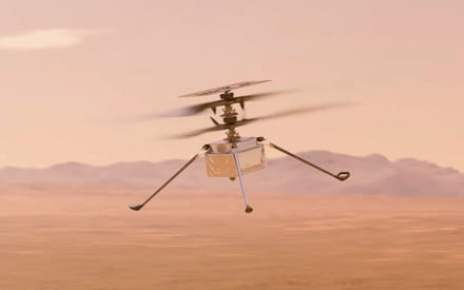 NASA video shows Mars helicopter's historic first flight