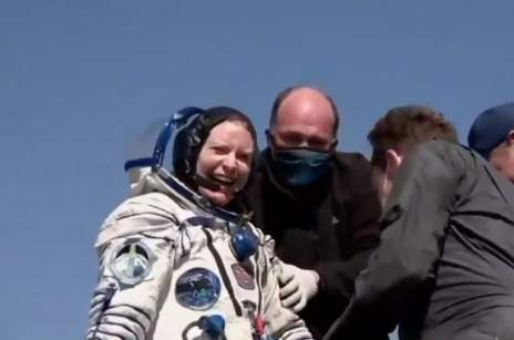 NASA astronaut Kate Rubins safely returns to Earth