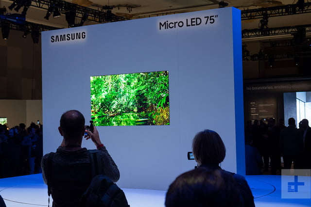 75 inch microled ces 2019