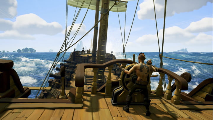 Sea Of Thieves Hands-on Preview | Helmsman turning the ship