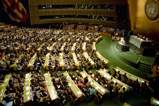 Image result for Pakistan's resolution reaffirming peoples' self-determination right adopted in UN