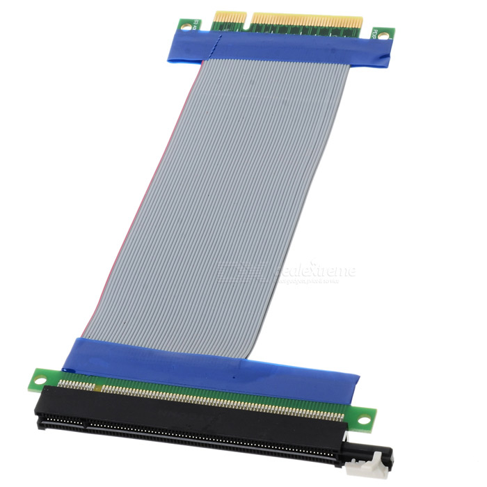 PCI Express PCI-E 8X to 16X Riser Card Extender Ribbon Cable (15.5cm) Gotd PCI-E Express 8X Riser Card Extender Extension Flexible Cord Ribbon Cable Gotd PCI-E Express 8X Riser Card Extender Extension Flexible Cord Ribbon Cable sku 113842 1