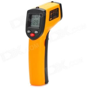 """BENETECH GM320 1.2"""" LCD Infrared Temperature Tester Thermometer - Orange + Black (2 x AAA)"""