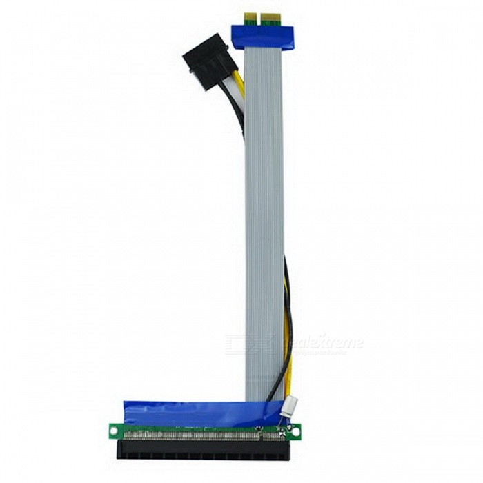 PCI-E 1X to 16X Adapter Riser Card Flex Extension Cable w/ Molex Power Connector 6-Pin Powered PCI-E PCI Express Riser Card - VER 006C - 1X to 16X PCIE USB 3.0 Adapter Card - With USB Extension Cable - GPU Riser Extender Cable Currency Mining 6-Pin Powered PCI-E PCI Express Riser Card – VER 006C – 1X to 16X PCIE USB 3.0 Adapter Card – With USB Extension Cable – GPU Riser Extender Cable Currency Mining sku 291200 1