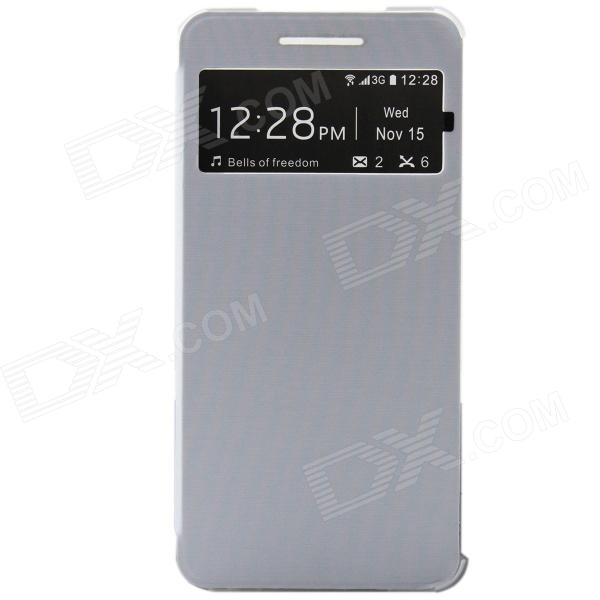 DOOGEE Protective PU Leather + Plastic Flip Open Case Cover for MAX DG650 - Grey