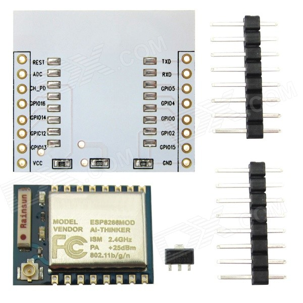 Wi-Fi Module ESP-07 ESP8266 Serial Wireless with Built-in Antenna + Adapter Board for Arduino / RPi ESP8266 ESP-12 WIFI Industrial stable version Full IO leads ESP8266 ESP-12 WIFI Industrial stable version Full IO leads sku 386077 1
