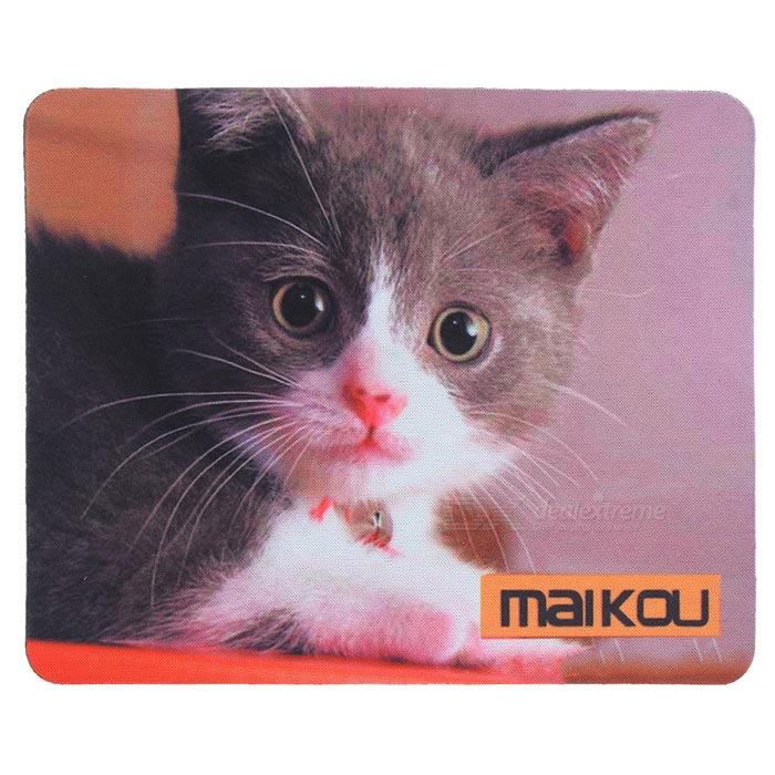 MAIKOU 21.8*18*0.2cm Lovely Cat Pattern Anti-Slip Non-Slip Mouse Pad Mat - Black + White Niceroom Custom Gaming Mouse Pad Btc Blank Bitcoin Niceroom Custom Gaming Mouse Pad Btc Blank Bitcoin sku 424322 1