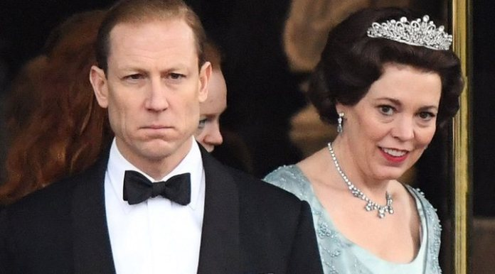 Tobias Menzies and Olivia Colman in 'The Crown'