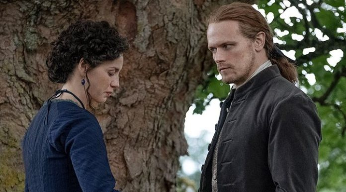 Caitriona Balfe and Sam Heughan in the fifth season of 'Outlander'