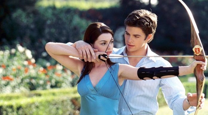 Anne Hathaway and Chris Pine in 'Princess by surprise'