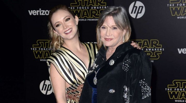 Billie Lourd pays homage to Carrie Fisher