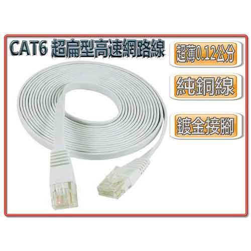 CAT6 超扁型高速網路線 2m-網路線材專館 - EcLife良興購物網