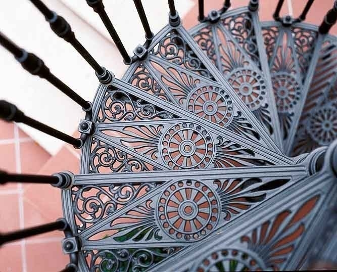 2050 Cast Iron Spiral Staircase By Modus   Metal Spiral Staircase For Sale   Cast Iron   Stair Railing   Staircase Kits   Wrought Iron   Handrail