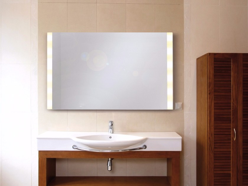 wall mounted mirror with integrated