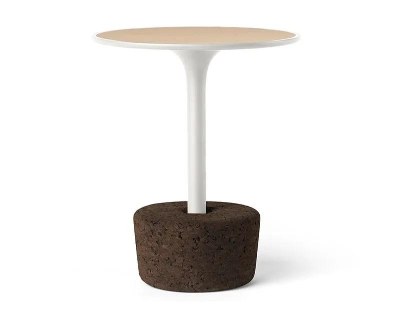 round wood veneer coffee table flora