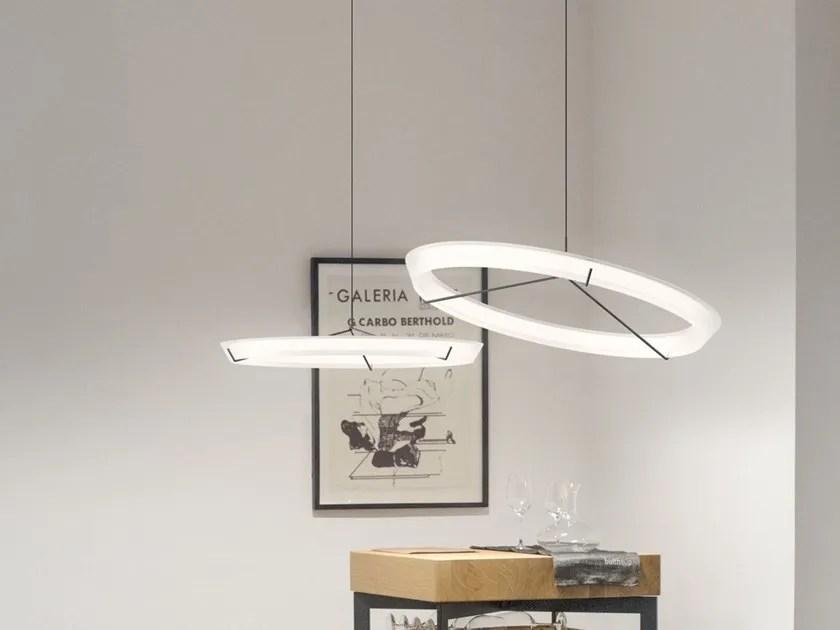 led steel pendant lamp halo jewel