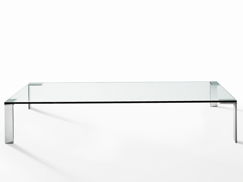 liko glass coffee table by desalto