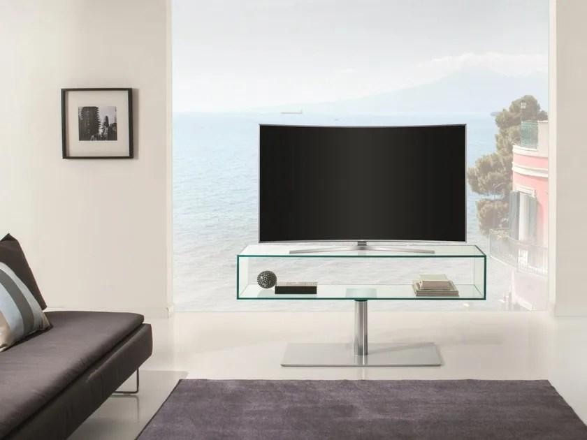 meuble tv pivotant en acier inoxydable