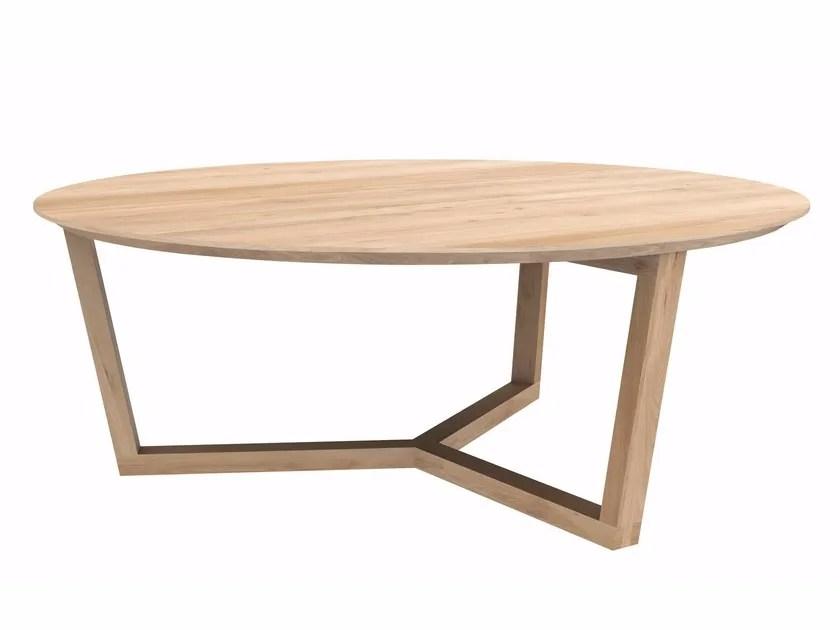oak tripod table coffee table by