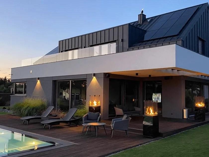 gas outdoor steel fireplace patio by kratki