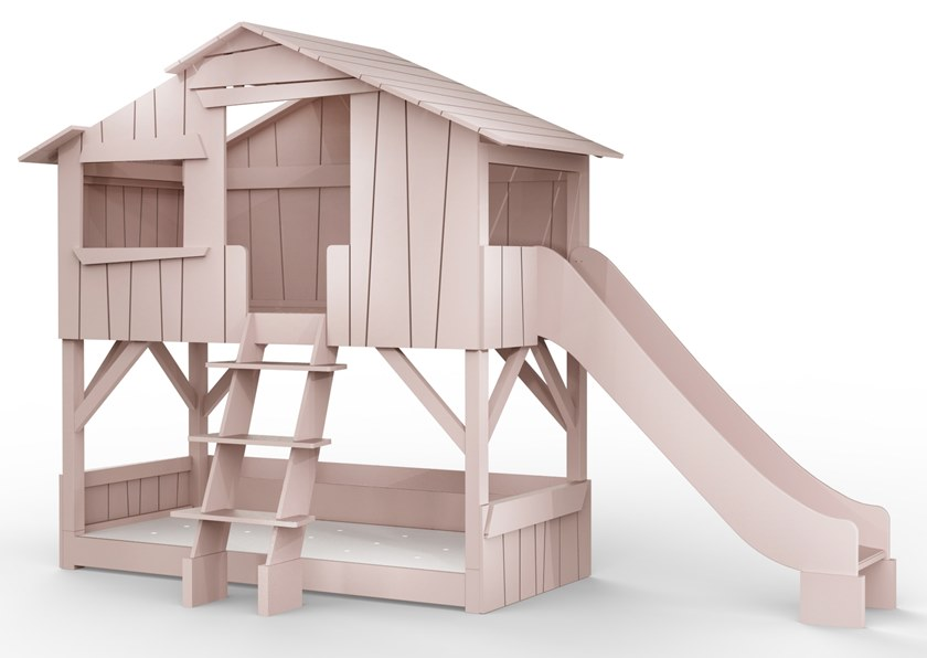 Mathy By Bols Loft Bed With Slide Tree House Bunk Bed Cottage House Bed