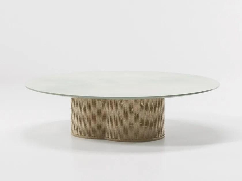 vimini garden side table by kettal