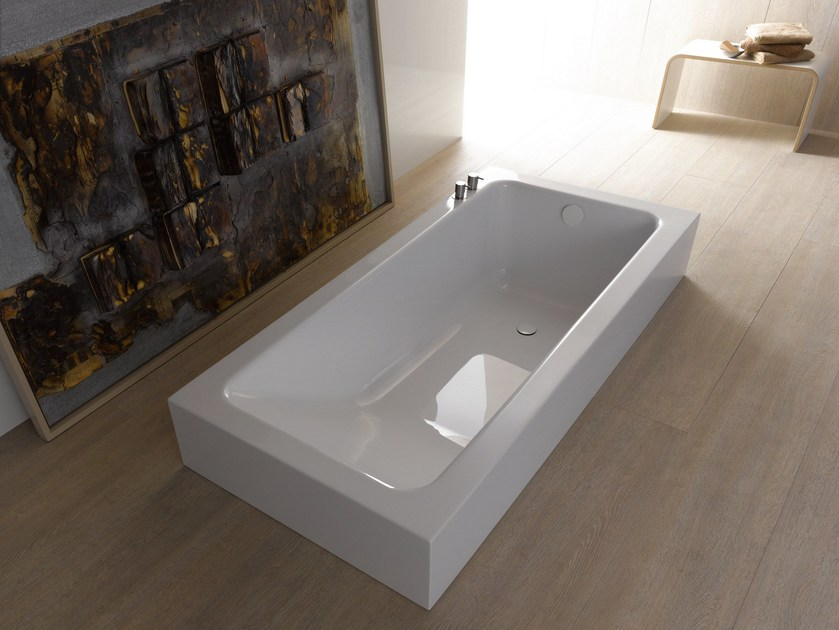 Semi Inset Bathtub BETTEONE RELAX HIGHLINE By Bette Design