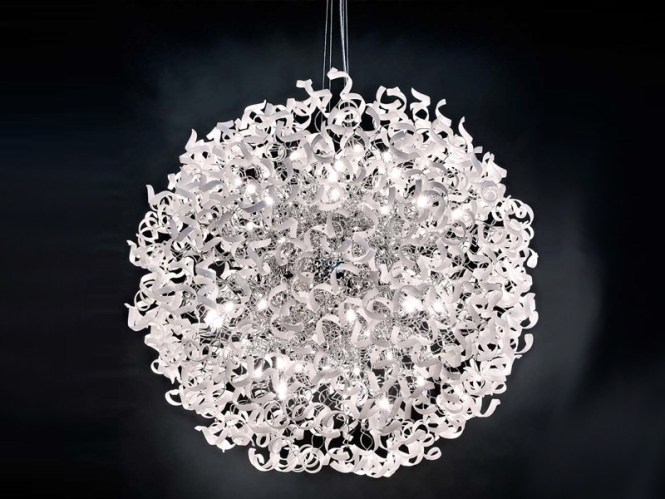 Crystal Chandelier Astro By Metal Lux