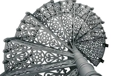 2070 Cast Iron Spiral Staircase By Modus   Cast Iron Spiral Staircase   Modern   Traditional   Stair Case   Kitchen   Railing