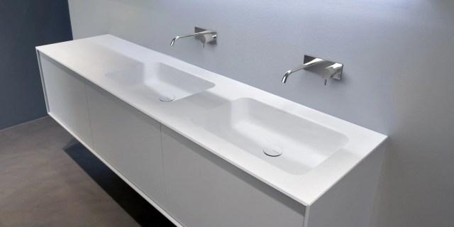 Corian washbasin countertop ARCO By Antonio Lupi Design design