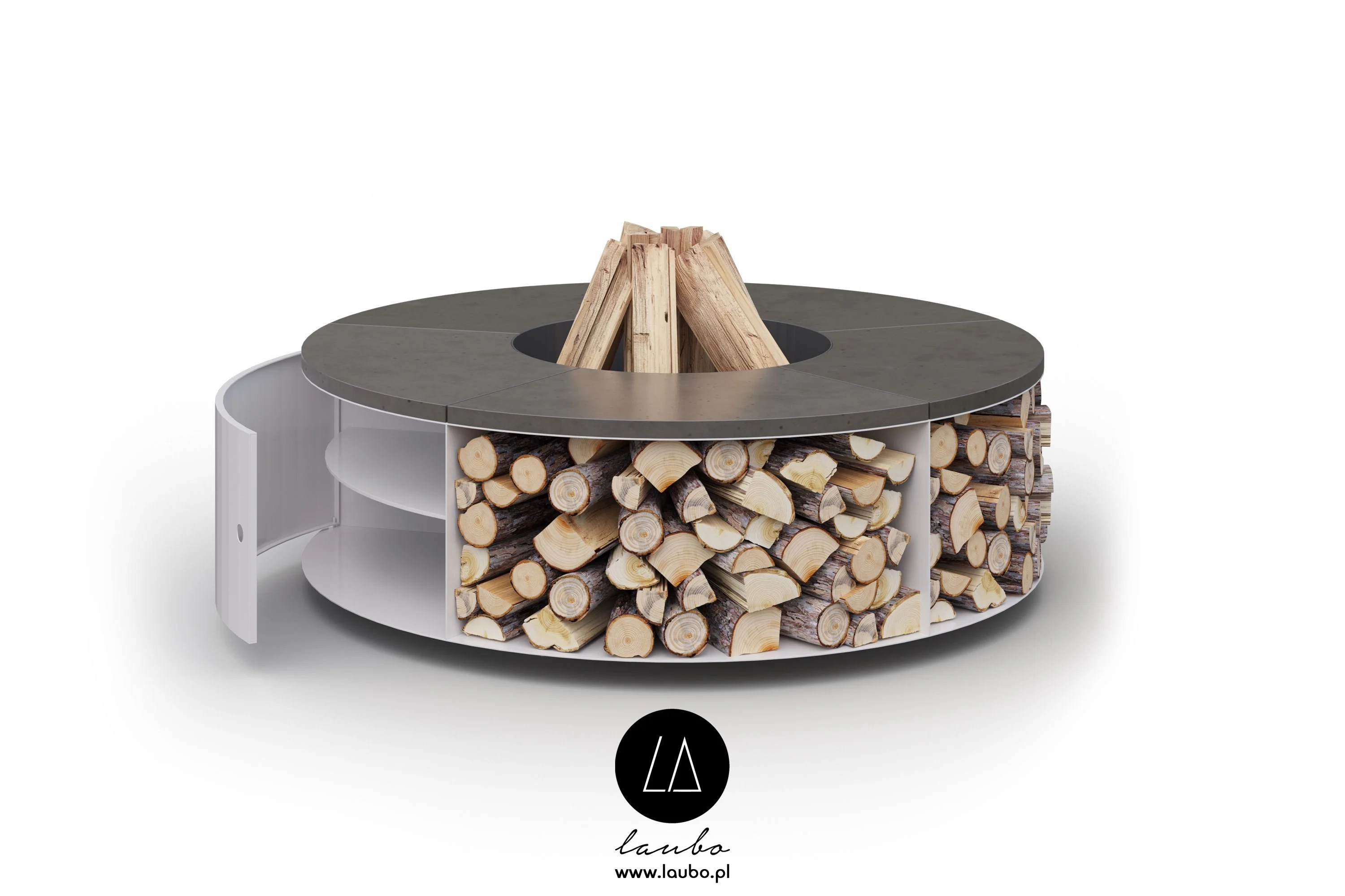 Wood Burning Outdoor Freestanding Fireplace Fuego Cubbi