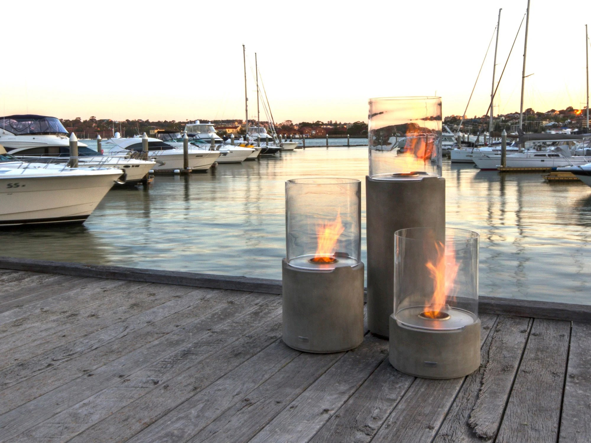 Outdoor Freestanding Bioethanol Fireplace Lighthouse 150