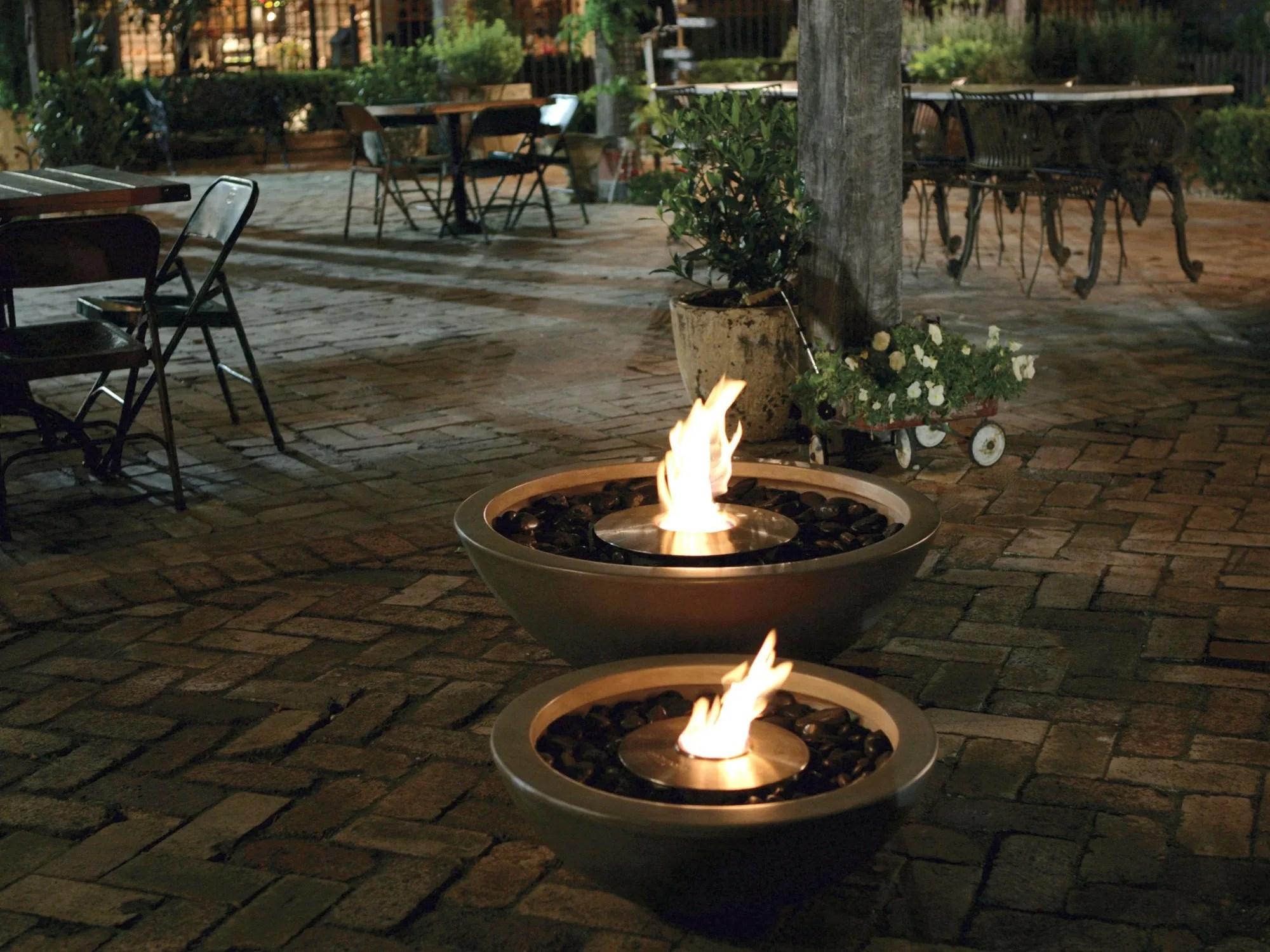 Bioethanol Outdoor Freestanding Fireplace Mix 600 Fire