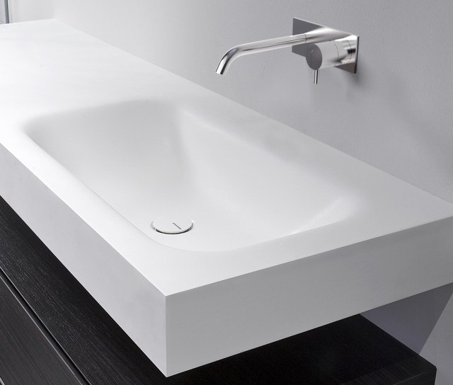 Corian washbasin countertop SEGNO By Antonio Lupi Design design
