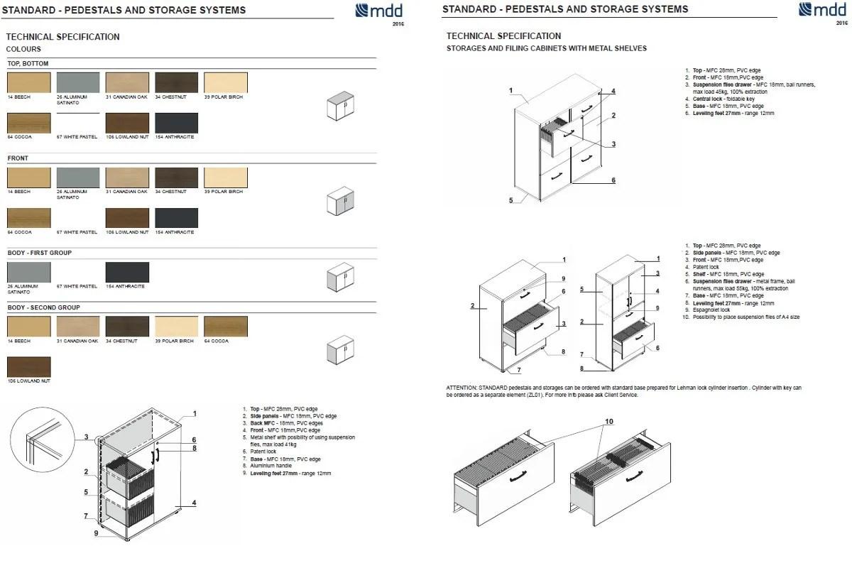 dimensions standard classeur de dossier