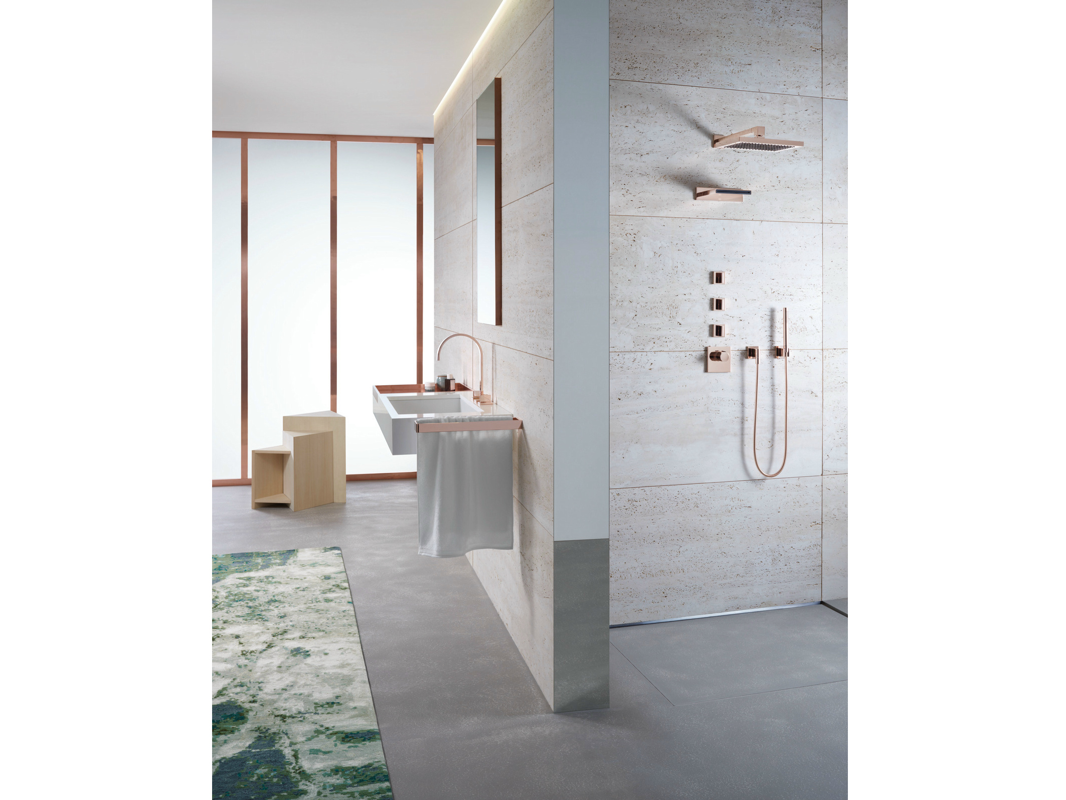 WALL MOUNTED WATERFALL SPOUT MEM COLLECTION BY DORNBRACHT