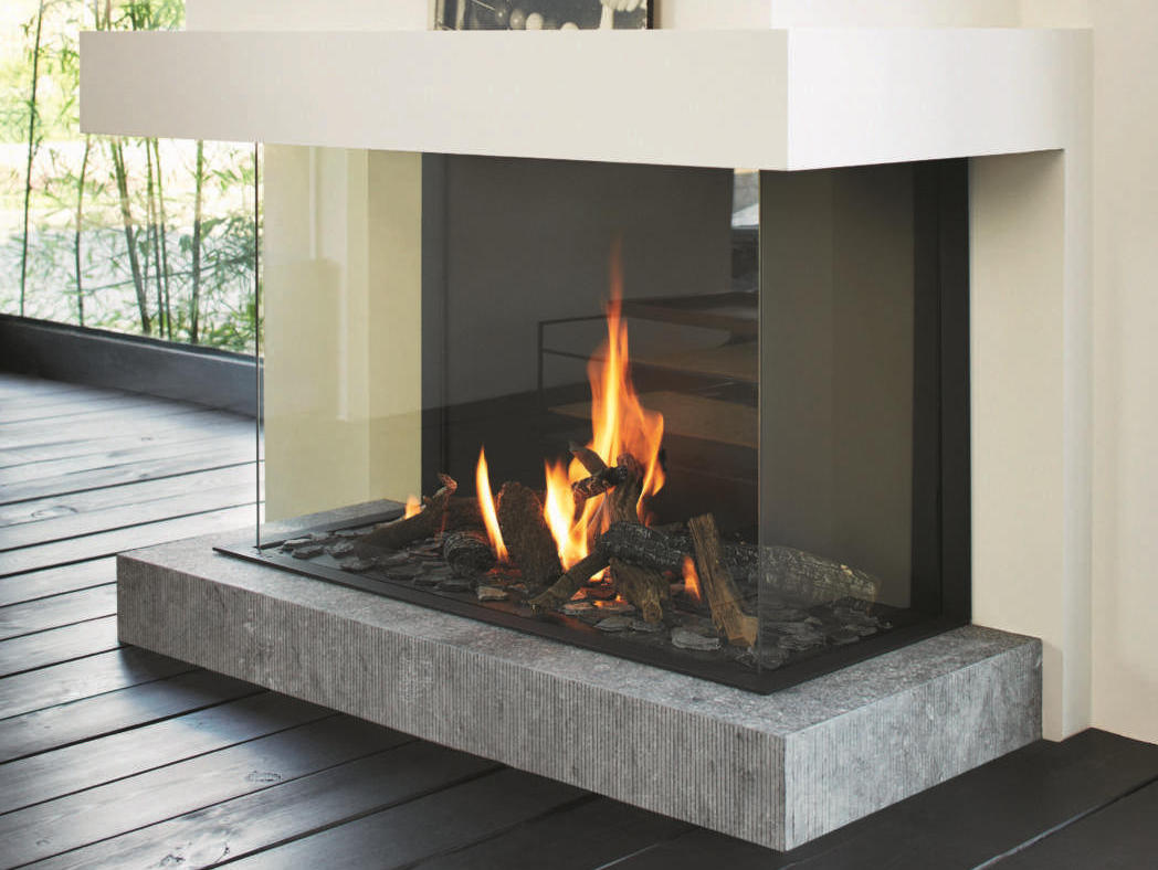 Stuv B 100 H 3 Sided Fireplace Tulp Collection By Stuv