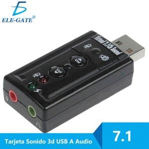 Adaptador Usb 2.0 Tarjeta De Sonido 7.1 Canales Audio 3d Pc