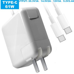 Cargador Mac Macbook 61w Tipo c Cable Type c