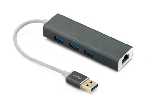 Hub 3.0 Usb Rj45 1000Mbps Ethernet Compatible Mac Pc