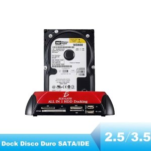 Case Dock Station Disco Duro 2.5 3.5 Sata Ide Multilector