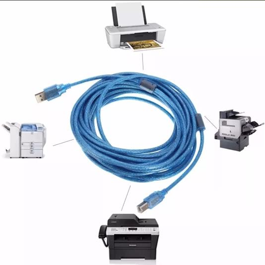 Cable Usb A B Macho 1.5m Impresora Escaner Multifuncional