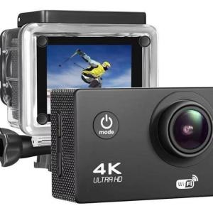 Camara GO PRO de Accion 4K WiFi Ultra HD Resistente al Agua Sumergible hasta 30m Ultra HD Gran Angular Lente de 150 Grados con Accesorios