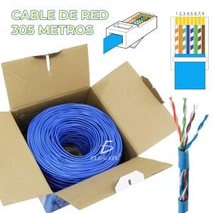 Bobina Cable Red Utp Rj45 Cat6 305 Mts