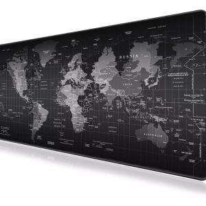 Mouse Pad Gamer Patron Planisferio Mapa Grande 80cm*30cm